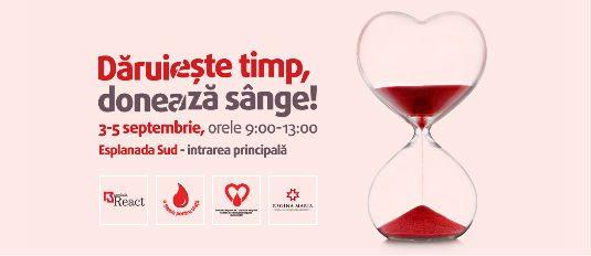 Dăruiește timp, donează sânge!