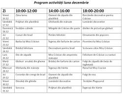program dreamland decembrie