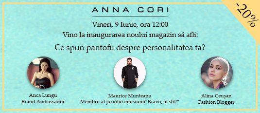 Deschidere magazin ANNA CORI