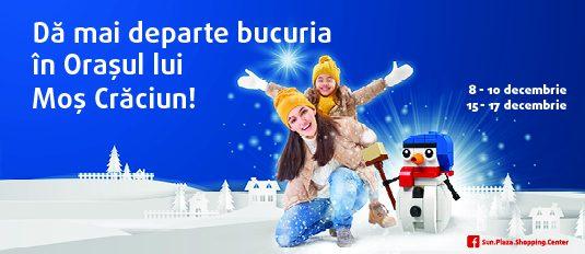 Dă mai departe bucuria în Oraşul lui Moş Crăciun