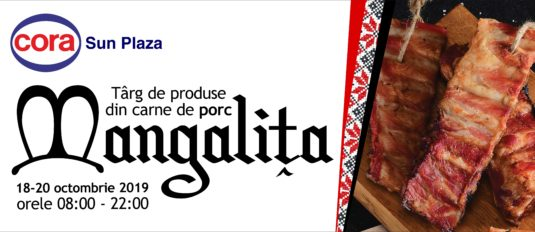 Cora: Targ de produse din carne de porc mangalita